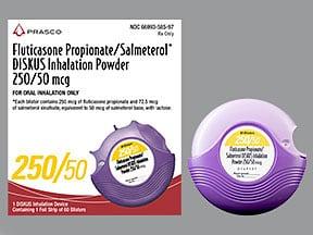 fluticasone 250 mcg-salmeterol 50 mcg/dose blistr powdr for inhalation