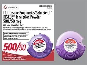 fluticasone 500 mcg-salmeterol 50 mcg/dose blistr powdr for inhalation