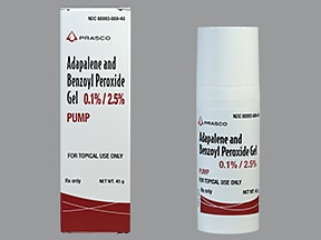 adapalene 0.1 %-benzoyl peroxide 2.5 % topical gel with pump