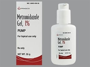 metronidazole 1 % topical gel with pump