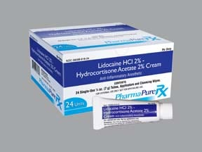 lidocaine 2 %-hydrocortisone 2 %-aloe vera rectal kit