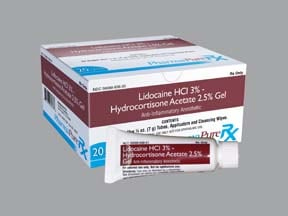 lidocaine-hydrocortisone-aloe vera 3 %-2.5 % (7 gram) rectal kit
