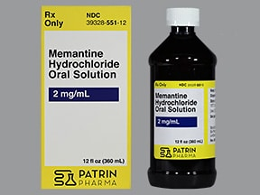 memantine 2 mg/mL oral solution