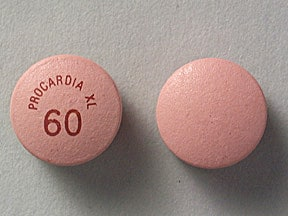 Procardia XL 60 mg tablet,extended release