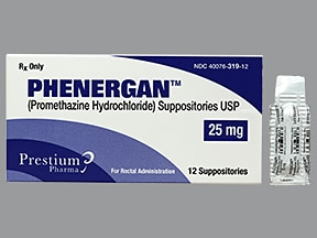 Phenergan 25 mg rectal suppository