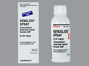 Kenalog 0.147 mg/gram topical aerosol