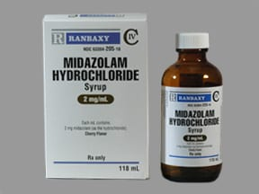midazolam 2 mg/mL syrup