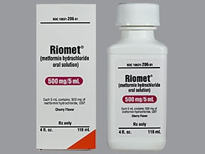 Riomet 500 mg/5 mL oral solution