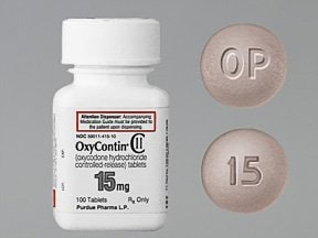 "This medicine is a gray, round, film-coated, tablet imprinted with ""OP"" and ""15""."