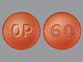 oxycodone ER 60 mg tablet,crush resistant,extended release 12 hr