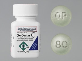 "This medicine is a green, round, film-coated, tablet imprinted with ""OP"" and ""80""."