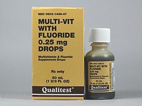 Multi Vitamin Fluoride Vit E Acetate Oral Uses Side