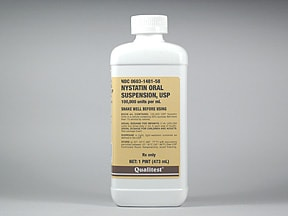nystatin 100,000 unit/mL oral suspension