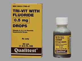 Tri-Vitamin With Fluoride 0.5 mg fluoride (1.1 mg)/mL oral drops