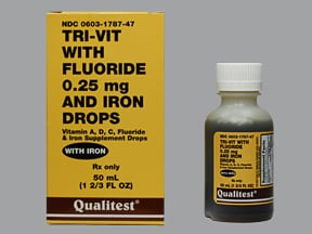 Tri-Vit with Fluoride and Iron 0.25 mg-10 mg/mL oral drops