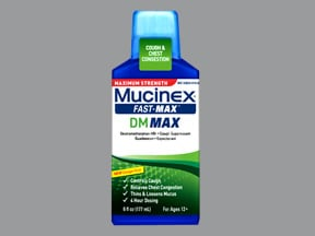 Mucinex Fast-Max DM Max 5 mg-100 mg/5 mL oral liquid