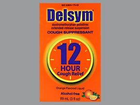 Delsym 12 hour 30 mg/5 mL oral suspension,extended release