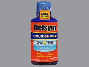 Delsym Cough-Cold Daytime 10 mg-20 mg-650 mg/20 mL oral liquid