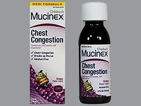 Children's Mucinex Chest Congestion 100 mg/5 mL oral liquid