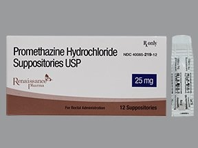 promethazine 25 mg rectal suppository
