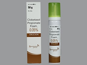clobetasol-emollient 0.05 % topical foam
