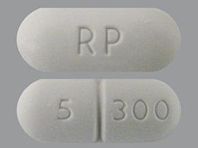 hydrocodone 5 mg-acetaminophen 300 mg tablet