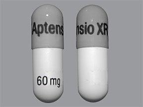 Aptensio XR 60 mg capsule,extended release sprinkle