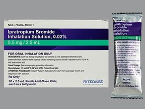 ipratropium bromide 0.02 % solution for inhalation