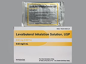levalbuterol 0.63 mg/3 mL solution for nebulization