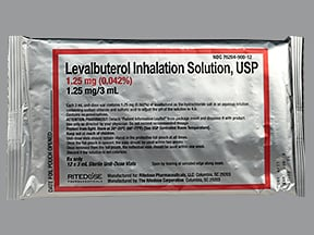levalbuterol 1.25 mg/3 mL solution for nebulization