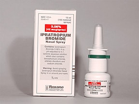 ipratropium bromide 42 mcg (0.06 %) nasal spray