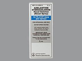 azelastine 137 mcg (0.1 %) nasal spray aerosol