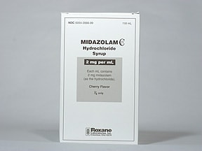 midazolam 2 mg/mL oral syrup