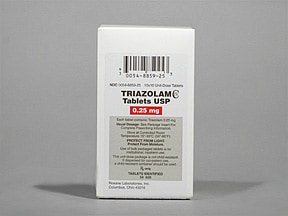 triazolam 0.25 mg tablet