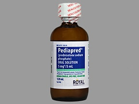 Pediapred 5 mg base/5 mL (6.7 mg/5 mL) oral solution