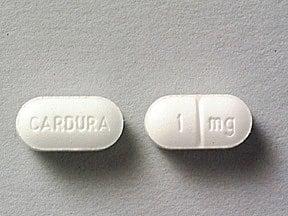 Cardura 1 mg tablet