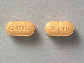 Cardura 2 mg tablet
