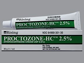 Proctozone-HC 2.5 % topical cream perineal applicator