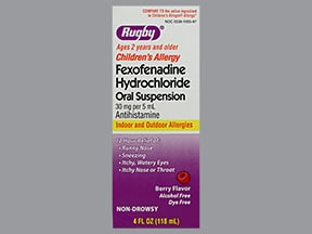 fexofenadine 30 mg/5 mL oral suspension