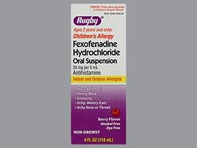 fexofenadine 30 mg/5 mL oral suspension