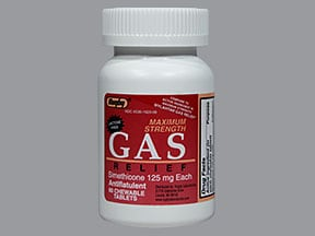 Gas Relief 125 mg chewable tablet