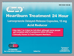 Heartburn Treatment 24 Hour 15 mg capsule,delayed release