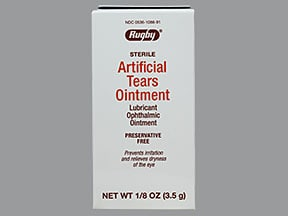 Artificial Tears (petrolatum/mineral oil) 83 %-15 % eye ointment