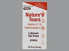 Nature's Tears 0.1 %-0.3 % eye drops