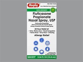 fluticasone propionate 50 mcg/actuation nasal spray,suspension