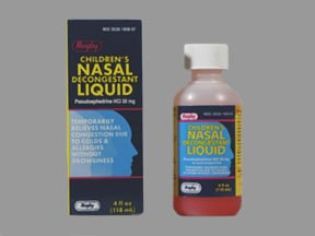 Nasal Decongestant (pseudoephedrine) 30 mg/5 mL oral liquid