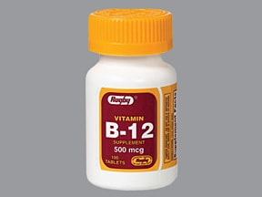 Vitamin B-12 500 mcg tablet