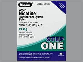 nicotine 21 mg/24 hr daily transdermal patch