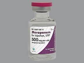 meropenem 500 mg intravenous solution