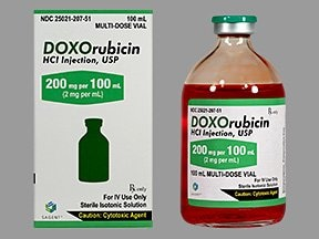 doxorubicin 2 mg/mL intravenous solution